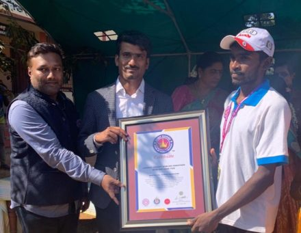 LONGEST CRICKET BOWLING MARATHON WITH ONE HAND TIED