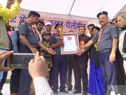 MOST NUMBER OF STUDENTS DRAWING REPLICA ART OF BHARAT SCOUTS & GUIDES FLAG