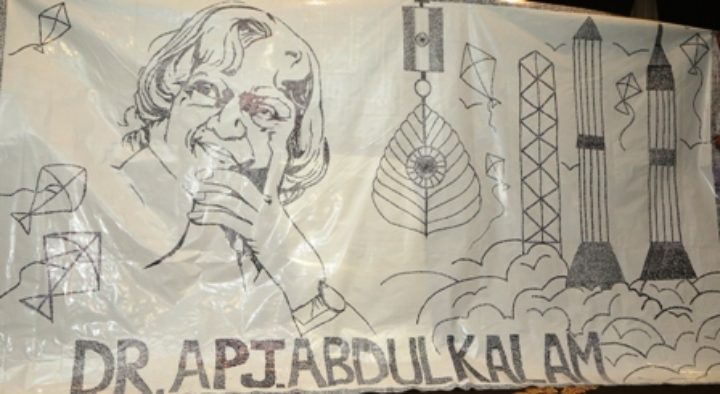 LARGEST PORTRAIT OF DR. APJ ABDUL KALAM  DONE BY USING TYPOGRAPHY (Hand Signatures