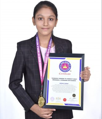 YOUNGEST PERSON TO CONDUCT MOST WEBINARS & SEMINARS ON SCIENCE