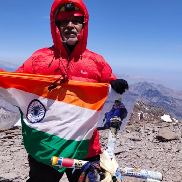 OLDEST INDIAN MOUNTAINEER TO CLIMB HIGHEST MOUNTAIN IN EUROPE- MOUNT ELBRUS & HIGHEST MOUNTAIN IN SOUTH AMERICA- ACONCAGUA