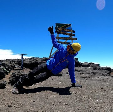 WORLD'S FIRST PERSON TO PERFORM DANCE AT AFRICA'S HIGHEST PEAK – MT. KILIMANJARO (MALE)